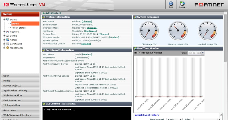 FortiWeb Management Interface